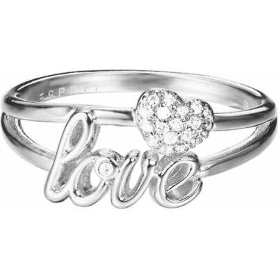 Esprit női gyűrű ESRG02773A180 méret 18 LOVE