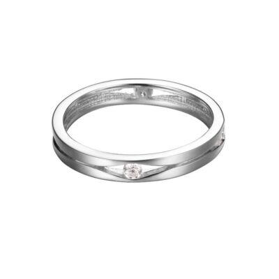 Esprit női ezüst gyűrű, méret 18, ESRG92156A Solitaire