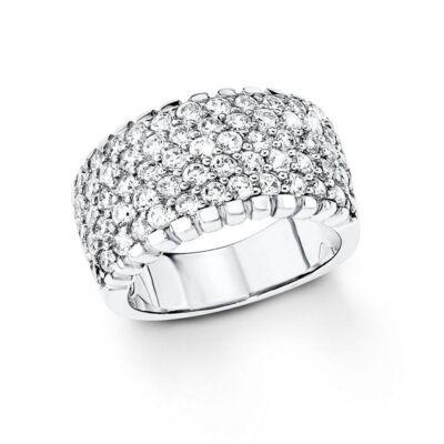 S.Oliver női gyűrű SO1110 ezüst méret 17