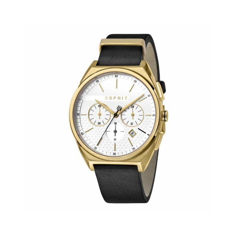 Esprit ES1G062L0025 Slice Chrono White Gold Black férfi karóra Chronograph