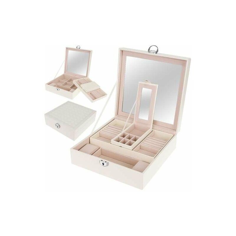 Óra és ékszertartó doboz - fehér