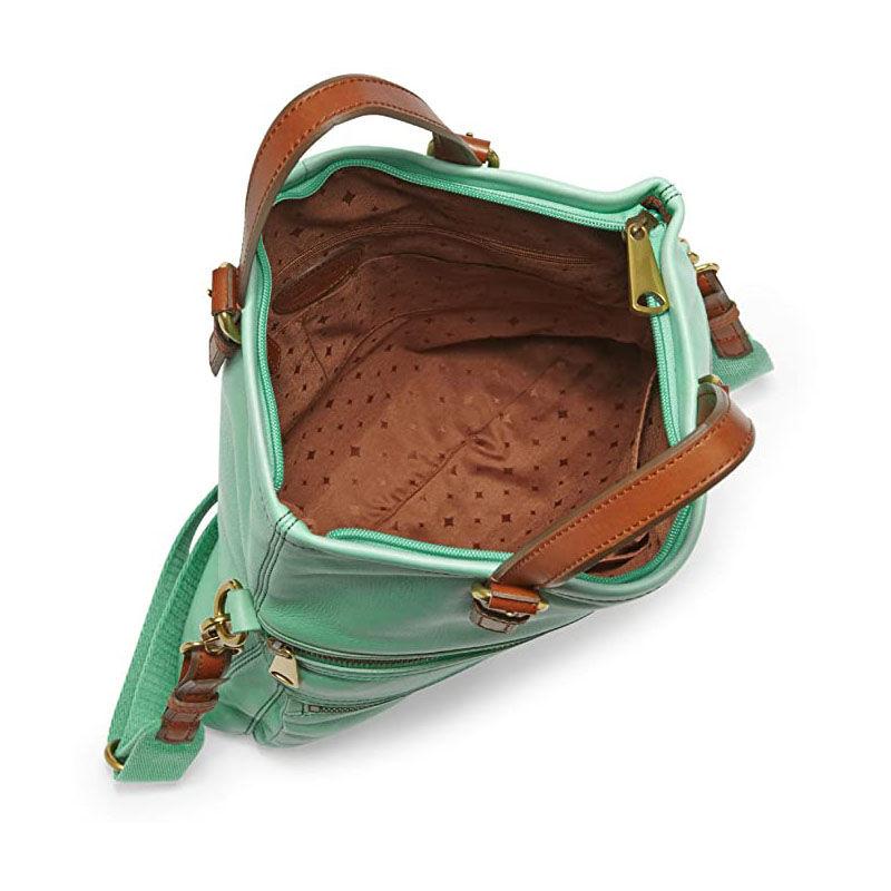 Fossil női táska bőr Explorer Mint ZB5258784