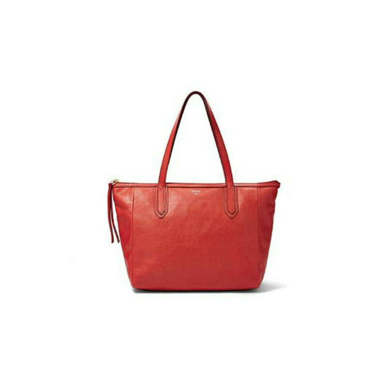Fossil női kézitáska bőr Sydney Shopper Real Red ZB5487622