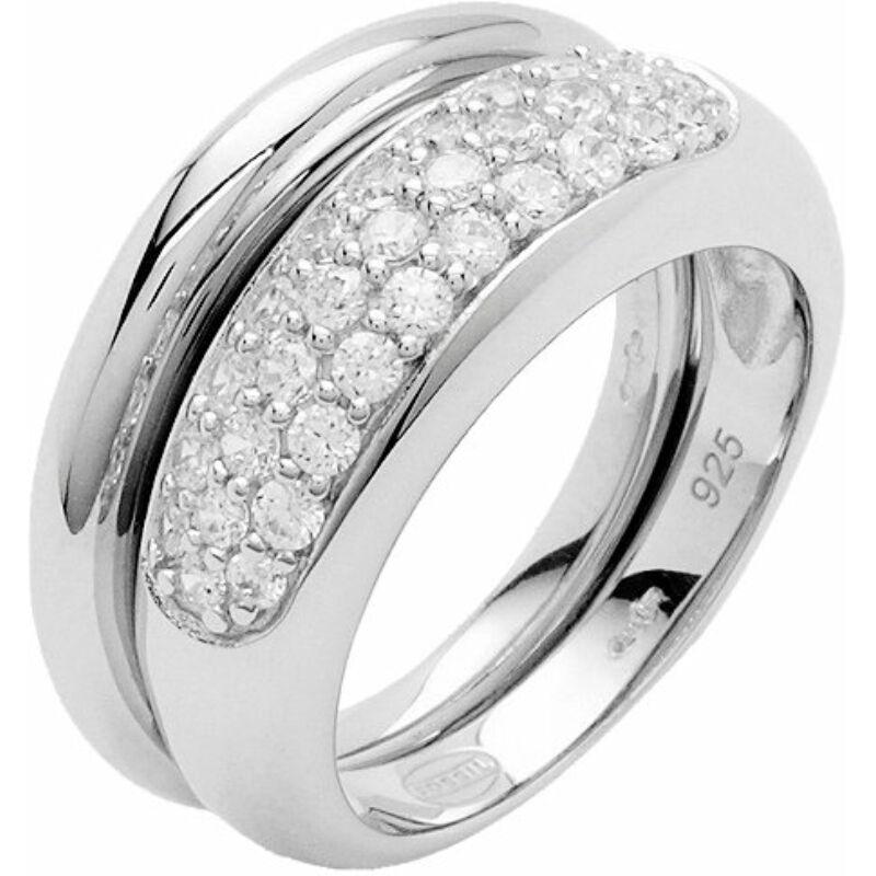 Fossil női gyűrű JF17096 ezüst, méret 17