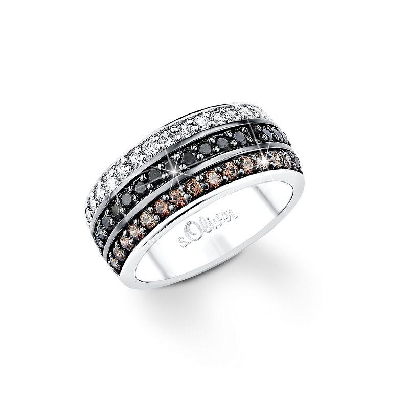 S.Oliver női gyűrű ezüst SO838 méret 54