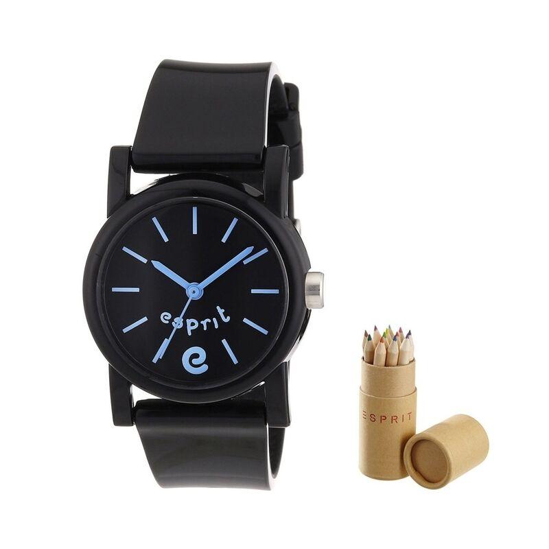 Esprit gyerek óra ES105324001 Super E Black ajándék ceruza szettel